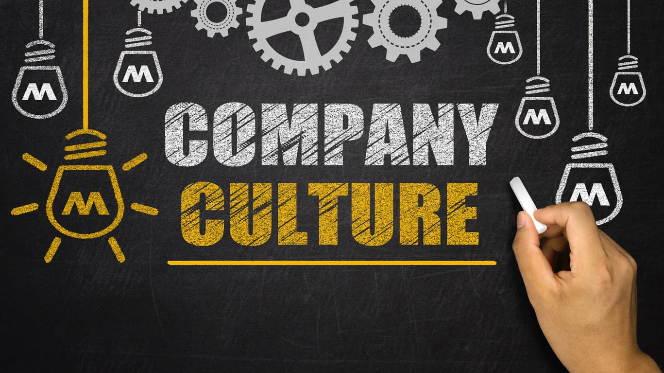 Company Culture concept on blackboard