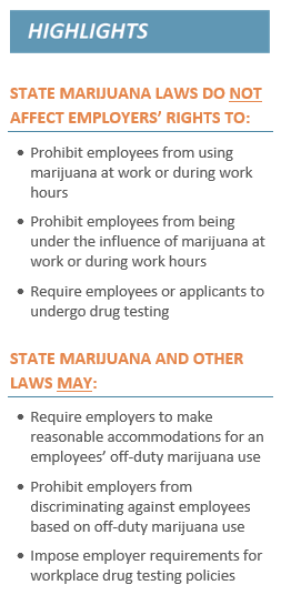 legalized marijuana and employer rights