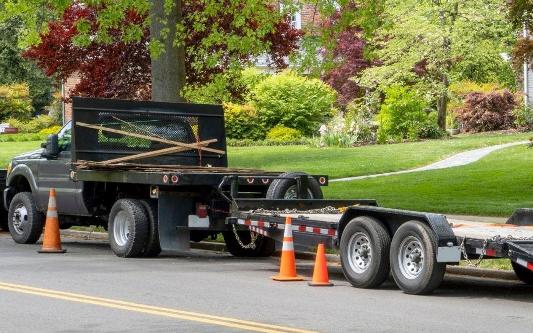 Transporting Landscape Equipment