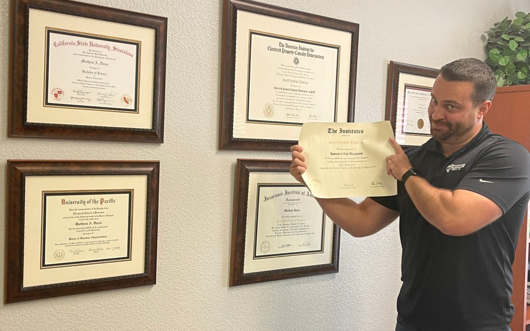 Congratulations to our President on his ARM Certification!